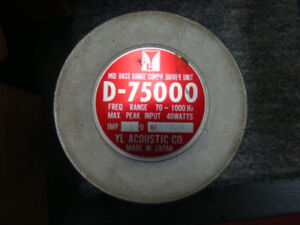 YL Acoustic D-75000 Compression driver woriginal box FShipping Tracking Number