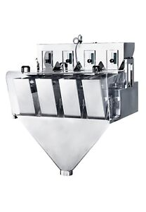 NEW ~110V CN-X4-2-1 Four Head Weighing machine for powderparticleslice