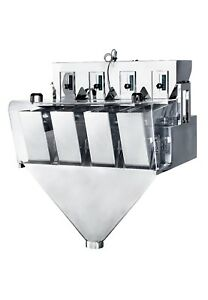 NEW ~110V CN-XS4-2-1 Four Head Weighing machine for powderparticleslice(0.5L)