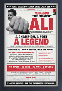 MUHAMMAD ALI VINTAGE QUOTES 13x19 FRAMED GELCOAT POSTER GREATEST BOXING CHAMPION