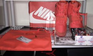 "AUTOGRAPHED! NIKE AIR YEEZY 2 SP ""RED OCTOBER"" Men's SZ 13DS 508214 660"