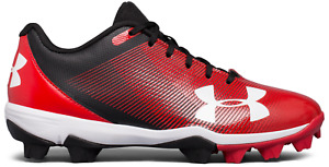 Under Armour Boy's Kids  Leadoff Low RM Jr Baseball Cleats Shoes Red 1297316-061