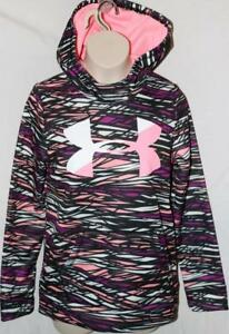 Under Armour Girl's Hoodie Big Logo Loose Storm Purple Rave YMD NEW NWT FREE SH