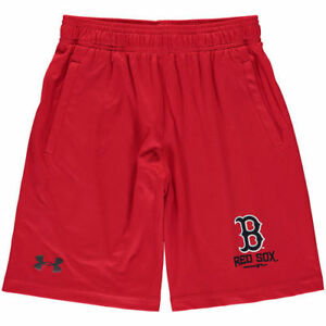 Under Armour Boston Red Sox Youth Red Intimidator Performance Shorts - MLB