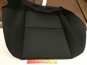 2010-2013 SILVERADO SIERRA TAHOE DRIVERS SEAT BOTTOM COVER BLACK NEW #  20833416