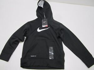 NWT NIKE GIRLS' THERMAFIT TENNISRUNNING HOODIE (BLACK) 445327-010 $40