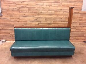 High End Restaurant Booths Teal Leather and Wood