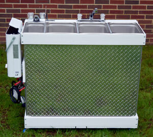 Concession Sink Large Propane **Portable 3 compartment sink**