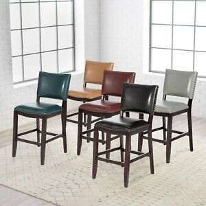 Leather Bar Stool With Back 26
