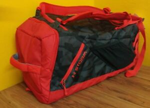 Under Armour Storm Undeniable Backpack Duffle BAG luggage Medium Black Red zip