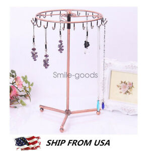 Jewelry Rotating Holder Stand Display Earring Necklace Organizer Storage Rack