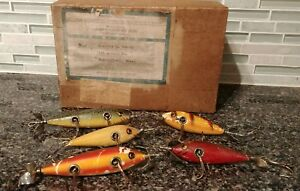 Rare Heddon Shipping Box & Heddon Fishing Lures
