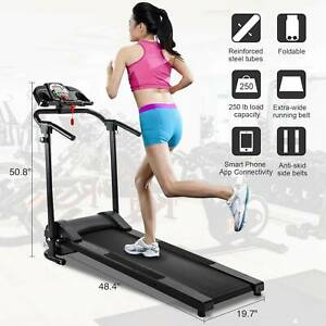 Folding Treadmill Electric Motorized Power Running Jogging Fitness Machine