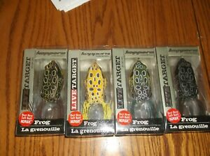 LIVE TARGET FROG-LOT of 4 DIFFERENT COLORED FISHING LURES--2-58