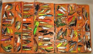Huge Lot of over 160 Vintage BASS LURES CRANKBAITS Heddon Jenson ETC..