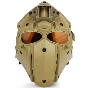 9 Colors Helmet Airsoft Paintball CF Game Full Face Mask Tactical Protective Hot