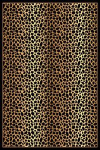 RIMA Modern Contemporary Abstract 5X8 5x7 Rug 2252 Leopard $59.00