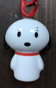 New Peanuts Snoopy Glass Christmas Tree Ornament Funky Itty Bittys Vintage Toy C $29.99