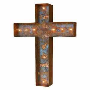 Iconics ed Christian Cross Marquee Light - I am the Way - 14W x 4D x 24H in.