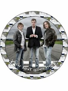 Top gear the stig tv show personalised wafer  Icing edible Round Cake topper