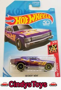 2018 HOT WHEELS 68 CHEVY NOVA #32/365 HW FLAMES