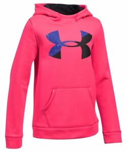 Under Armour Fleece Big Logo Hoodie - Girls - Pink