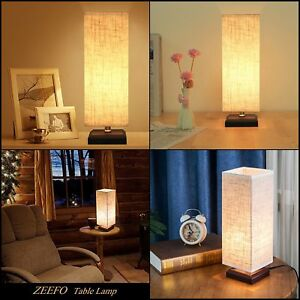 LED Table Lamp for Study Desk Bedroom w/ Solid Base Retro Style Switch Button