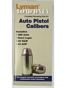 Lyman Load Data Book Auto Pistol Calibers L9780004