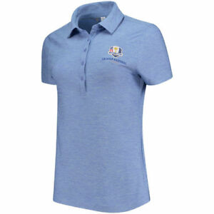 Under Armour Women's Navy 2018 Ryder Cup Zinger Heathered Performance Polo