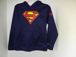 UNDER ARMOUR BOYS' FLEECE STORM  HOODIE YOUTH  SUPERMAN Youth LARGE