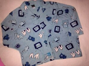 2 PC~NWOT~JOE BOXER~BUNNY SLIPPERS Cat BOOK TV~Flannel Pajamas SET~LARGE L PJ