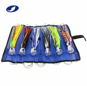 SET of 6 6 inch Offshore Big Game Trolling Lure for Marlin Tuna Mahi Dolphin Bag