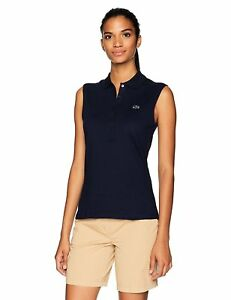 Lacoste Women's Classic Sleeveless Slim Fit Polo - Choose SZColor