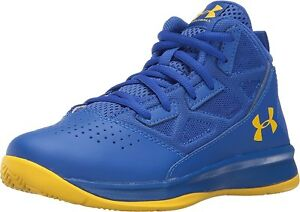 Under Armour Jet Mid Boys Youth Size 1 Basketball Shoes Team Royal 1274068 400