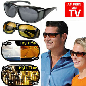 2 Pair set HD Night Vision Wraparound Sunglasses As Seen on TV Fits OVER Glasses