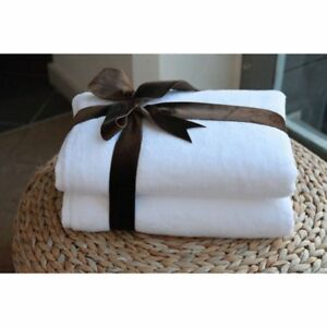 Luxury Hotel & Spa 100% Turkish Cotton Soft Twist Bath Towels - Set of 2