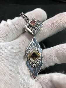 Handmade beryl pendant in silver high quality jewelry