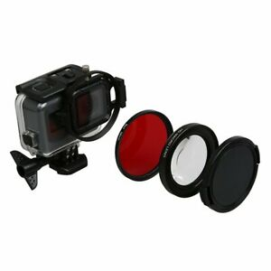 16x Magnification Magnifier 58mm Macro Red Lens UV Filter For GoPro Hero 5 6 7
