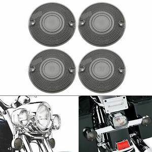 4pcs Smoke Turn Signal Light Lens Covers Fit for Harley Sportster Electra Glide