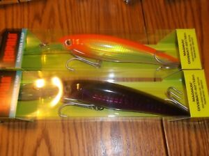 RAPALA X-RAP MAGNUM 40's--lot of 2 DIFFERENT COLORED-FISHING LURES-XRMAG40