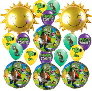 PLANTS VS ZOMBIES CUPCAKE BIRTHDAY BALLOON BANNER PARTY BRACELET FAVOR PVZ PLATE