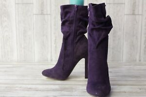 Lui Chiny Cha Ching Ankle Boot- Women's Size 10 M Purple