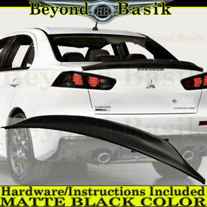 2008-2017 Mitsubishi Lancer MATTE BLACK Factory Duck Bill Style Spoiler Wing