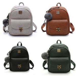 Small Women Backpack Polyurethane Leather Fashion Shoulder Bag For Teenage Girl