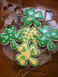 1-2-3-4 Dz Homemade St Patrick's Day Shamrock Cookies - Jumbo 4
