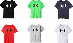 Under Armour Boys' Big Logo Short Sleeve Tee Shirt 6 Colors