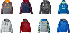 Under Armour Boys' Armour Fleece Printed Big Logo Hoodie, 8 Colors $35.19