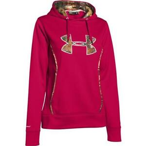 Under Armour Women's UA Storm Caliber Hoodie Large Camo Fury Red 1247106-623 NWT