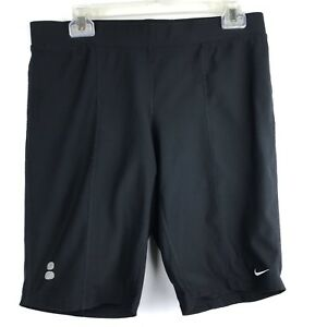 Nike Fit-Dry Athletic Shorts Women's Capri Solid Black Stretchy Size Me