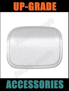 Steel Plate Chrome Fuel Gas Tank Lid Cover Trim For 2007-2011 Toyota Camry Sedan